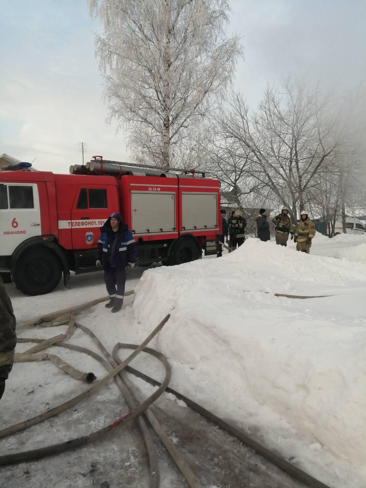 Пожар Ивановская область, Ивановский район, н.п. Ясюниха, д. 28.