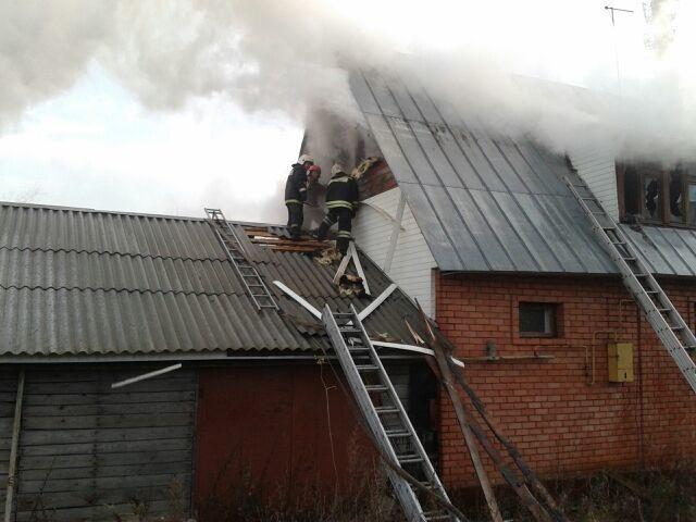 Пожар Ивановская область, г. Вичуга, ул. Лухская, 13.