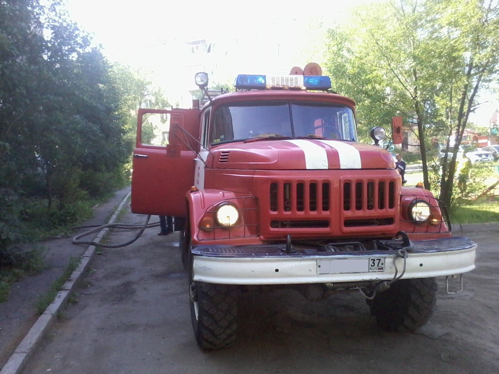 Пожар г. Иваново, ул. Свободная, д.2 к.Б.