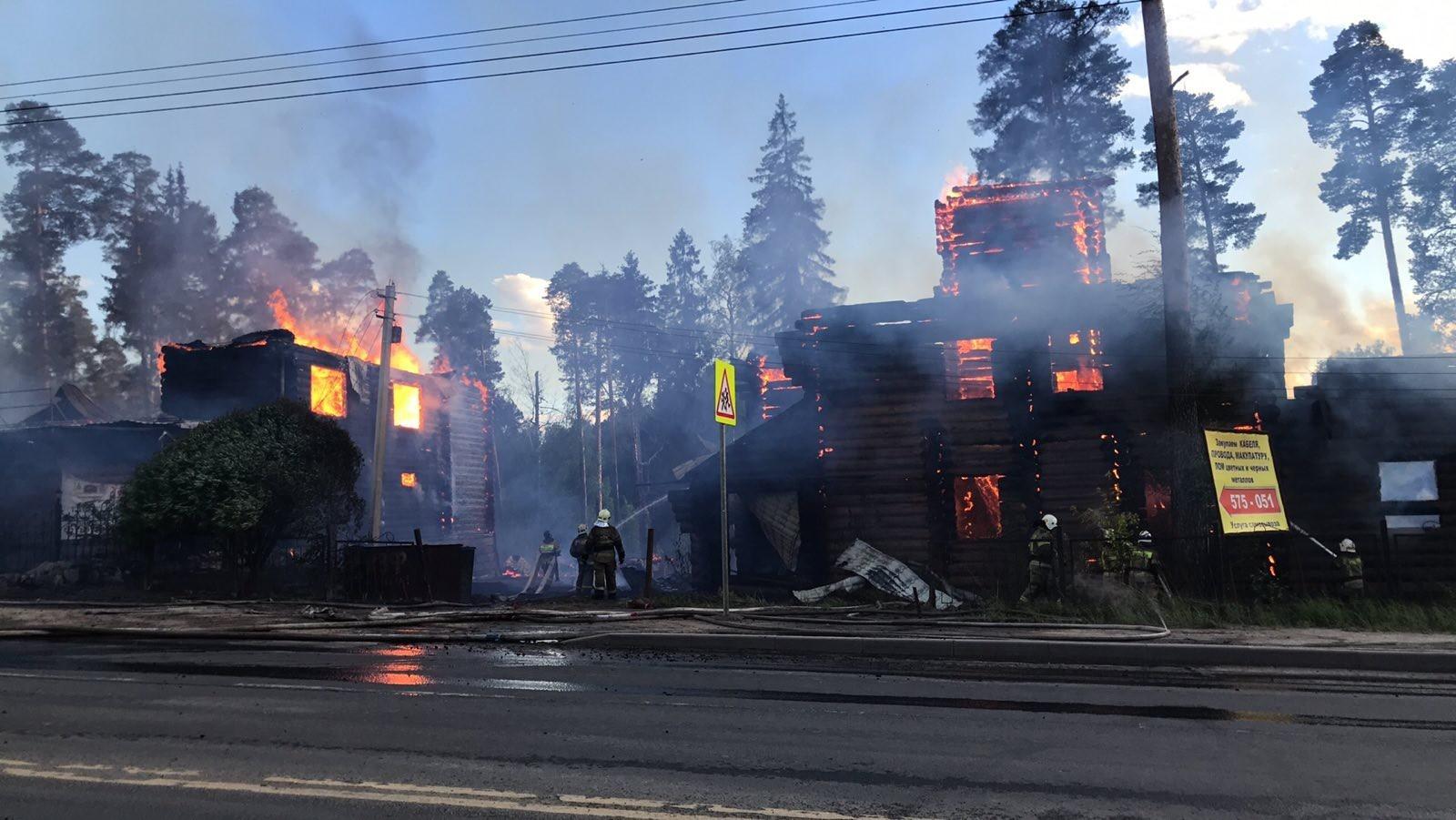 Пожар Ивановская область, Ивановский район, г. Кохма, ул. Ивановская, д. 35-б.